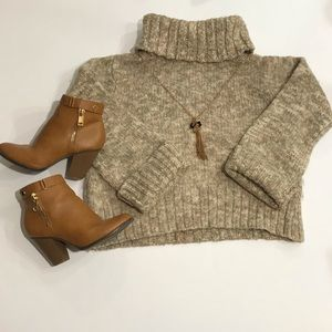 Tommy Bahama Chunky 💯 Wool Turtleneck Sweater S